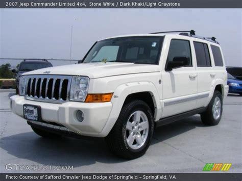 2007 White Jeep Commander White 2007 Jeep Commander Limited 4x4 Khaki
