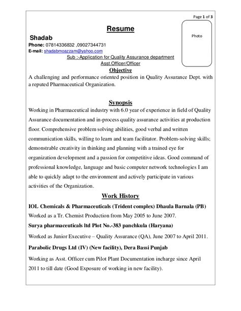 quality manager in pharmaceutical industry resume 28