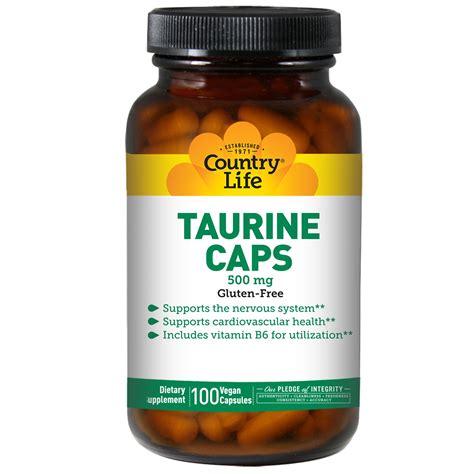 taurine vs creatine country taurine caps 500 mg 100 vegan caps na