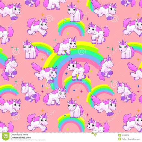 unicorn pattern background unicorn pattern pink stock illustration image of cute