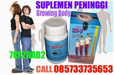 Obat Peninggi Badan Originalgrow Up Usa Original Suplemen Badan obat peninggi badan grow up usa perangsang pertumbuhan tulang healthy shop