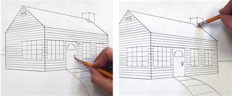 haus zeichnung ein haus perspektivisch zeichnen mit fluchtpunkten und