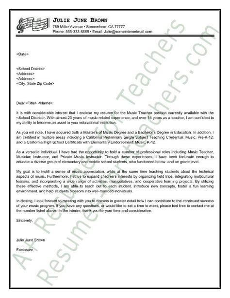 sample musician cover letter best ideas of music teacher resume