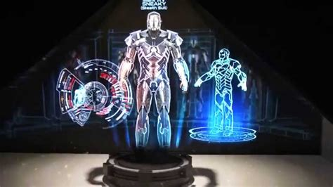 hot toys iron man holographic display sdcc youtube