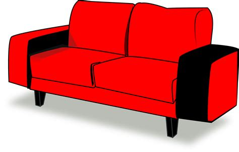 couch svg free vector graphic couch red sofa interior free