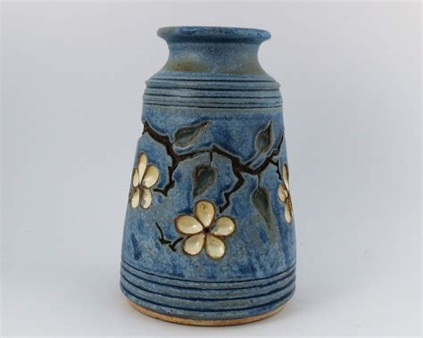 Custom Vase by Custom Vase With Carved Cherry Blossoms By Loma Prieta