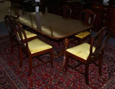 Duncan Phyfe Dining Room Table Mahogany Banded Inlaid Duncan Phyfe Dining Room Table And