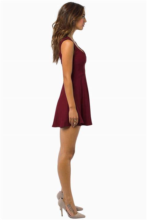 Dress Valentina valentina burgundy skater dress 22 00 tobi