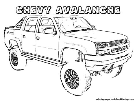 free coloring pages of chevy s10