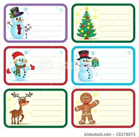 christmas design name tags christmas name tags collection 1 stock illustration