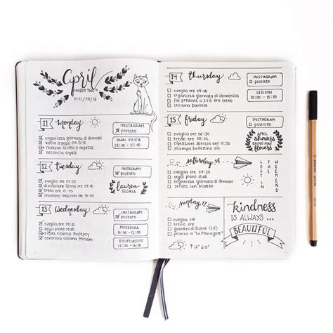 Layout For Journal Intime | daily page layout bullet journal idea layouts