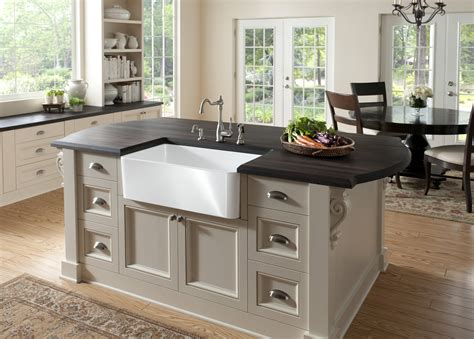 substantial wood kitchen island with apron sink single apron front sink