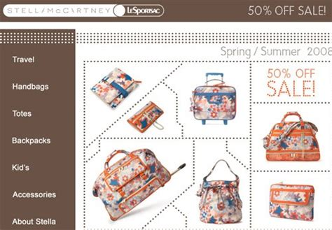 Stella Mccartney For Lesportsac by Stella Mccartney For Lesportsac 50 Sale