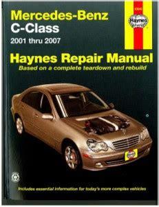 2001 2007 mercedes benz c class haynes automotive repair manual