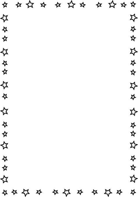 printable star frames 17 best ideas about page borders on pinterest doodle