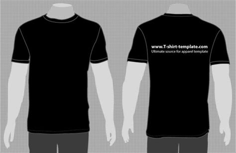 t shirt template with model t shirt vector template