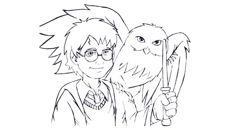 harry potter chibi coloring pages draw harry potter by vcdesenhos on deviantart