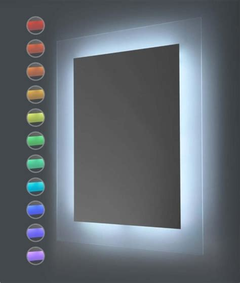 colour changing lights for bathroom mood lighting led mirror with remote control
