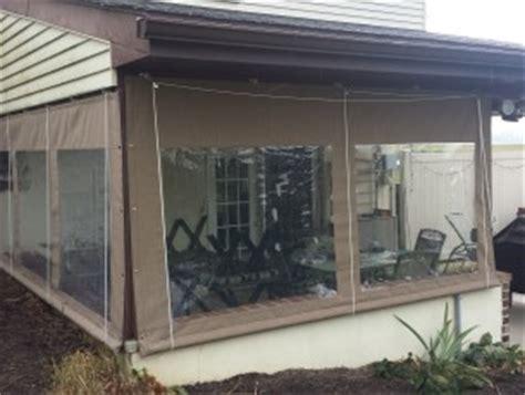 roll down plastic curtains drop curtains enclosures kreider s canvas service inc