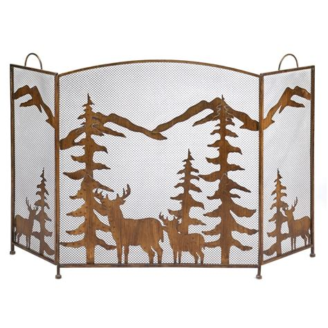 Rustic Fireplace Screen by Rustic Forest Fireplace Screen