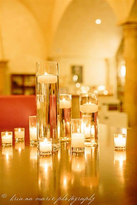 diy wedding decor tall cylinder vases filled with water
