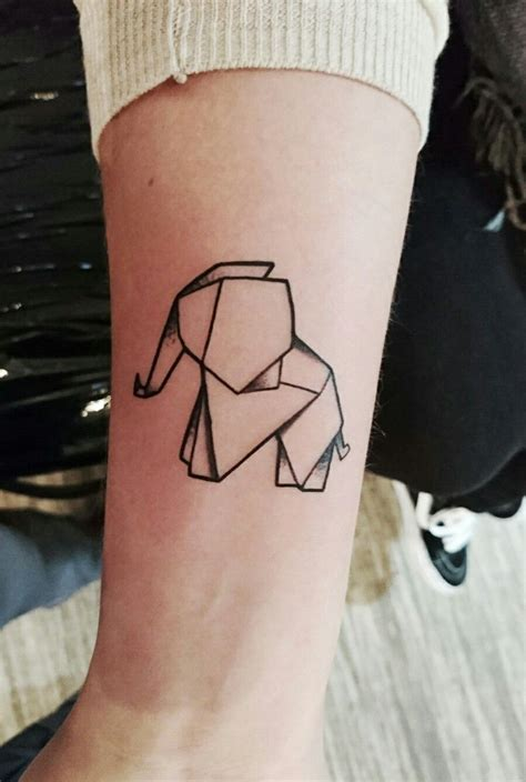 origami elephant tattoo elefant origami tier elephant animal