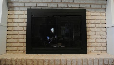 glass fireplace doors walmart wal mart fireplace doors brick anew