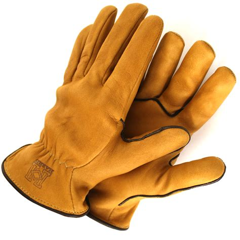 Handmade Leather Gloves - uninsulated work gloves copper chocolate harris