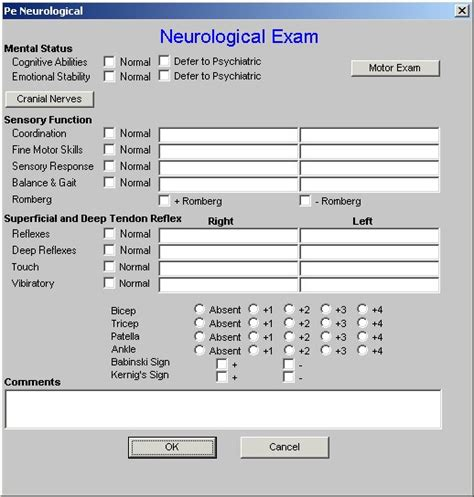 delighted neuro exam template images resume ideas