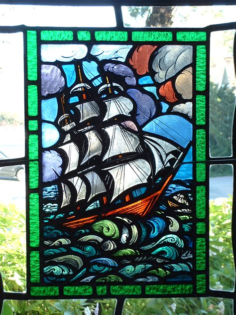 file stained glass ship jpg wikimedia commons