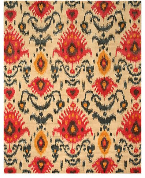 Overstock Ikat Rug by Tufted Ikat Ivory Wool Rug Eclectic Rugs By
