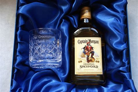 morgans spiced gift set engraved glass 35cl spiced captain rum