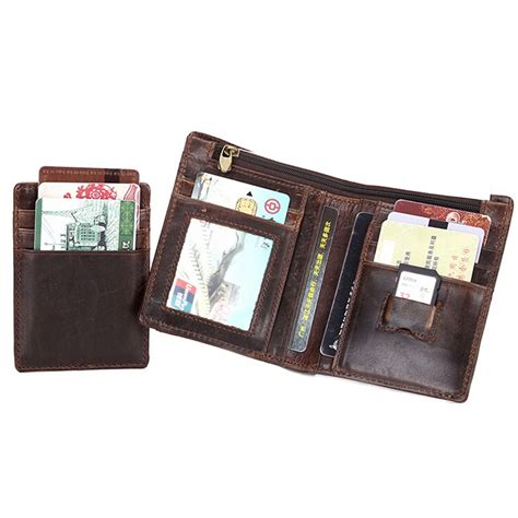 Dompet Pouch 3 Retsleting dompet kulit pria wax cowhide leather brown jakartanotebook