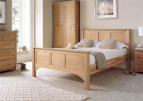 vermont oak hfe bed frame light wood wooden beds beds