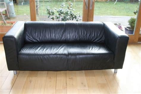 Ikea Klippan Leather Sofa Ikea Black Leather Klippan Sofa For Sale In Lucan Dublin From Sadiemm