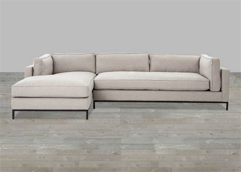 Lounge Chaise Sofa by Beige Linen Sofa With Chaise Lounge
