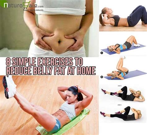 8 simple exercises to reduce belly at home lose