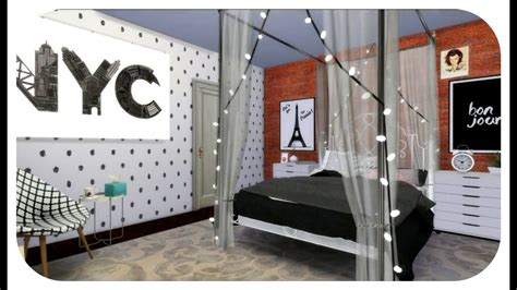 sims  speed build beauty gurus bedroom cc list youtube