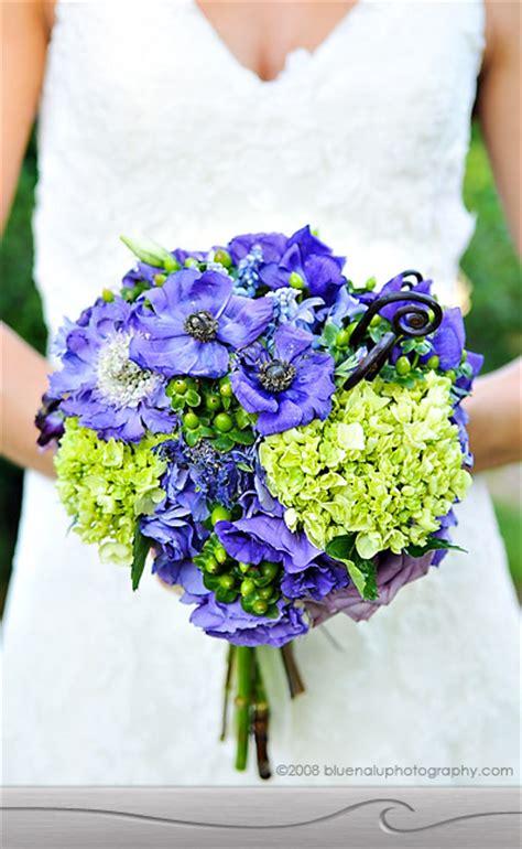pink blue purple and green bouquet wedding flower