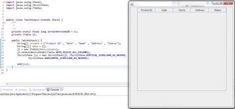 javax swing jtable java jtable inside a jpanel sets its own border and fix
