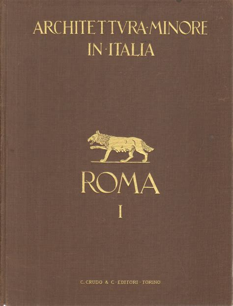 libreria arte roma architettura minore in italia roma vol i aa vv