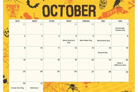 Disney Calendar 2016 October 2016 Disney Villains Printable Calendar