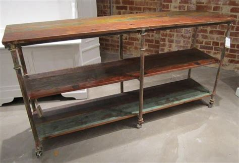 iron and wood console table iron and wood console table with shelf nadeau charleston