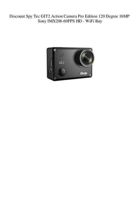 Discount Spy Tec GIT2 Action Camera Pro Edition 120 Degree
