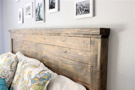 ana white reclaimed wood headboard queen size diy