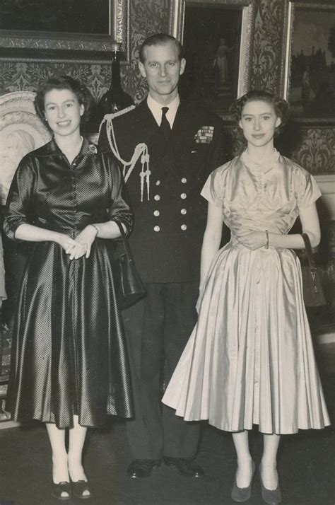 princess margaret party 1953 with hm the queen and prince philip hrh the