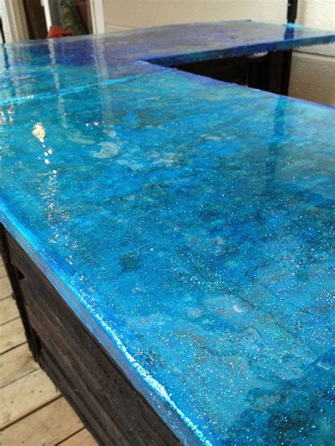 Decoupage Countertops - decoupage with fabric for countertop bar