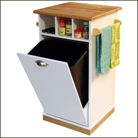 kitchen trash can cabinet in cabinet garbage under trash can with lid