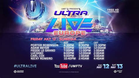 house music festivals europe ultra music festival europe live stream your edm