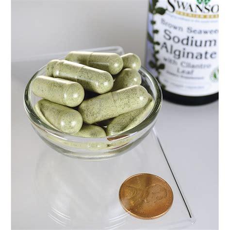 Sodium Alginate Heavy Metal Detox by Swanson Premium Brown Seaweed Sodium Alginate 60 Veg Caps